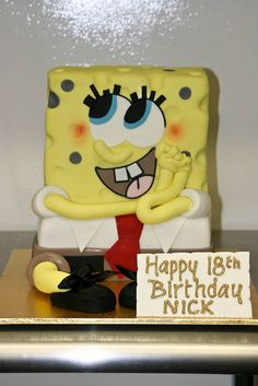 Love this spongebob cake!!