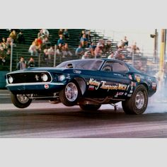 Mickey Thompson's Mustang funny car twisting in the launch
