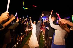 Illuminate your walkway with multi-colored glow sticks.