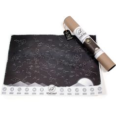 Luckies Star Map (£18) ❤ liked on Polyvore featuring home, home decor, wall art, black, map home decor, map wall art, paper wall art and wall paper home decor