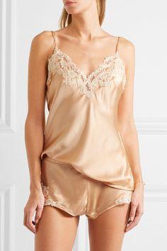 La Perla - Maison lace-trimmed silk-blend satin camisole 3337c9e30