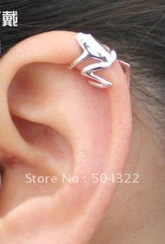 NEW HOT 2012 popular 925 sterling silver frog Cartilage Ear Cuff Wrap vintage Clip Earring Free shipping-in Clip Earrings from Jewelry on Aliexpress.com