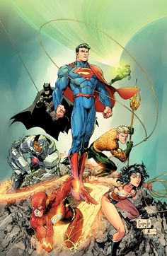 (Justice League Vol.2 #3 Variant Cover) By: Greg Capullo.,,,,////