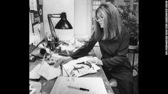 Gloria Steinem working on Ms. magazine. She's a constant reminder on not to be afraid to speak up and lead.