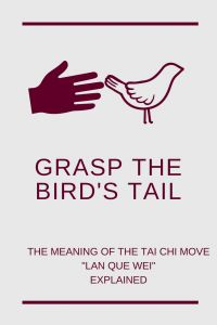 The Taijiquan move Grasp the Bird's Tail is one of the most important moves in many Taiji forms. Do you know the meaning of its Chinese name Lan Que Wei?