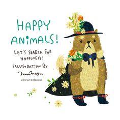 HAPPY ANIMALS! By Megumi Inoue. http://sorahana.ciao.jp/