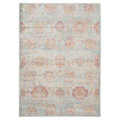 Add classic appeal to your entryway or master suite with this artfully crafted rug, showcasing a medallion print in a soft palette.