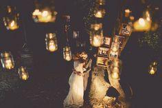 tea lights mason jars hanging