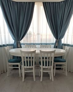 Chairs and tableEuropa table with Oslo chiars made by Mobirom in Europe. Our chairs and tables are made of beech wood Table And Chair Sets, Oslo, Furniture Sets, Minimalism, Upholstery, Dining Table, Curtains, Wood, Home Decor