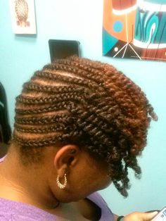 Braided style with 2 strand twisted front