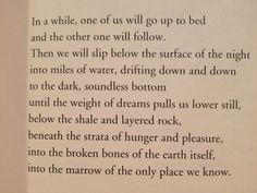 """Billy Collins, excerpt from """"Osso Bucco"""""""