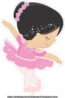 Bailarina cabelos preto Little Girl Crafts, Crafts For Girls, Ballerina Birthday Parties, Ballerina Party, Little Girl Ballerina, Kids Cartoon Characters, Baby Painting, Barbie Princess, Digital Art Girl