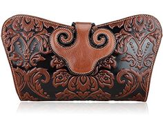 Pijushi Designer Floral Collection Leather Shoulder Handbags Clutch Cross Body Bags
