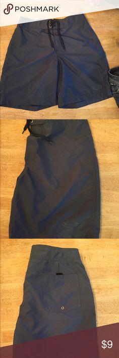 Men's Swim Trunks Men's slate blue swim suit. By Side Out. Worn once.  Size 34. EUC Side Out Swim