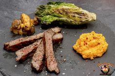 Rückwärts gegrilltes Rib-Eye-Steak mit Beilagen | BBQ-Hannover
