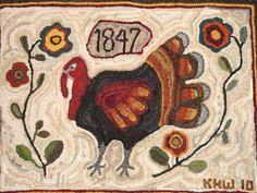 Rugs and Pugs turkey rug...I must make this rug!!