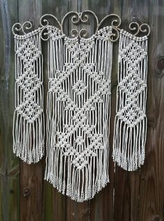 Large Ornamental Iron Macrame by Jonatis on Etsy