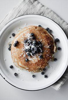 Sunday Morning Breakfast with Paige Gabert. #jarrytype #food52 #food52grams #foodie #pancakes #simple #simplerecipe #foodstyling #blueberrypancakes #kinfolk #wendlingandboyd