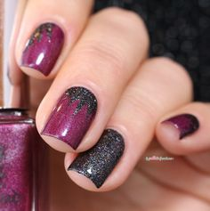 a england to emily bronte Let me in and heathcliff - pink and black explosion sticker nail art