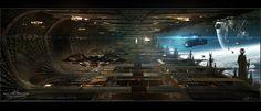 ArtStation - Titus Abrasax Docking Bay concept from Jupiter Ascending, George Hull