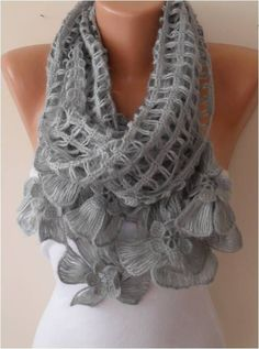 Unique Crochet Scarf Knit Scarf Gift Scarf Personalized Gift ideas for Her Girl. Unique Crochet Scarf Knit Scarf Gift Scarf Personalized Gift ideas for Her Girlfriend gift for her Crochet Scarves, Crochet Shawl, Crochet Lace, Lace Scarf, Scarf Knit, Unique Crochet, Knitting Accessories, Crochet Gifts, Womens Scarves