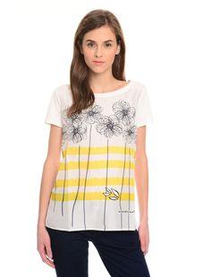 T-shirt in seta stampata