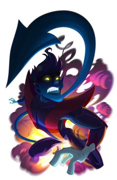 Love the fuzzy blue elf. Nightcrawler by pushfighter.deviantart.com on @deviantART