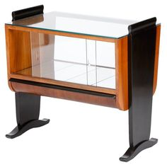 Art Deco Bar by Jindrich Halabala for UP Zavody in the 1930s | From a unique collection of antique and modern vitrines at https://www.1stdibs.com/furniture/storage-case-pieces/vitrines/