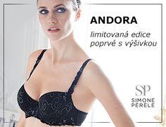 Nová barva oblíbené podprsenky Andora! Poprvé s ozdobným vyšíváním.