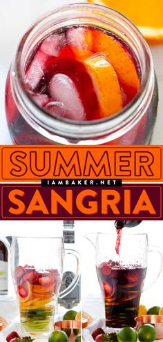 Alcoholic Punch, Non Alcoholic Drinks, Cocktail Drinks, Beverages, Cocktails, Summer Sangria, Refreshing Summer Drinks, Sangria Recipes, Drink Recipes