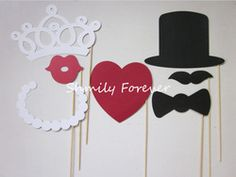Funny-Wedding-Party-Photo-Props-bearded-lips-Hat-crow
