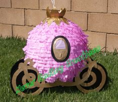 CARRO PIÑATA DE PRINCESA por NeverEndingCreation en Etsy