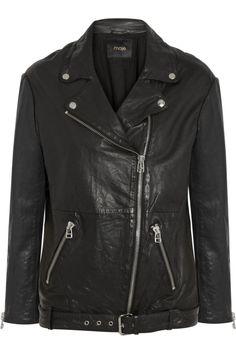 Maje Diferenti leather jacket  NET-A-PORTER.COM