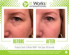 It Works! WOW wipes out your wrinkles! In 45 seconds you will start to feel it working, and in 45 more seconds all you will be able to say is WOW! It Works Global, My It Works, It Works Francais, Anti Aging Serum, Anti Aging Skin Care, Skin Line, Interactive Posts, 90 Day Challenge, Body Hacks