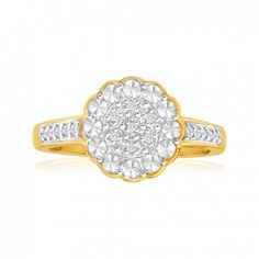 Diamond Engagement Ring in 9ct Yellow Gold (TW=5pt) image-a