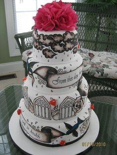 Gâteau tatouage de mariage