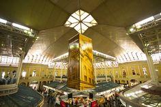 Foto interna do Mercado Público de Porto Alegre
