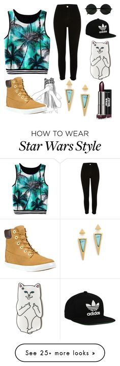 """Untitled #30"" by dancewithshira on Polyvore featuring River Island, Timberland, Jules Smith and adidas Originals"