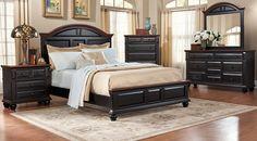 Rooms To Go Berkshire Lake Black 5pc King Bedroom 1 199 99 Furniture Sets