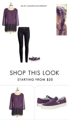 """""""day 29"""" by ilovecats-886 ❤ liked on Polyvore featuring Vans, women's clothing, women's fashion, women, female, woman, misses and juniors"""
