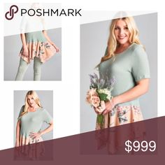 COMING SOON! (Plus) Floral underlay shirt Coming soon! Please like this listing to be notified when it becomes available  Available in 1x-3x!  🚫Current list price is not what this will be listed at 🚫estimated date of arrival: 3/11 Tops