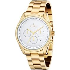 Fjord - Mens DAN Chronograph Gold Plated Watch - FJ-3003-33 - RRP: £210.00 - Online Price: £105.00
