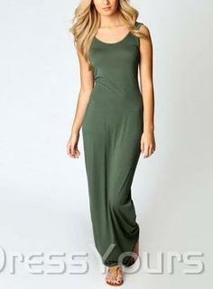 US$36.74 Casual Slim Sleeveless Long Fashion Dress. #Dresses #Fashion #Long #Casual