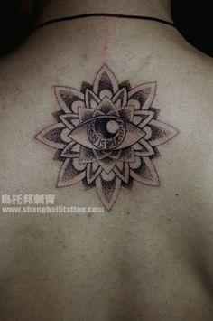 #Lotus flower #tattoo on the back