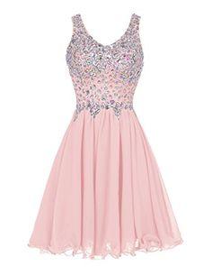 Tideclothes Chiffon Straps Prom Dress Short Beading Evening Party Dress Blush2 Tideclothes http://www.amazon.com/dp/B013WUKDSS/ref=cm_sw_r_pi_dp_dLUMwb0TJF7D7