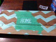 Missouri chevron Pallet Sign State sign by RusticRestyle on Etsy