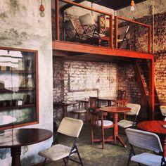 Birdsong cafe bandra exposed concrete exposed brickwork