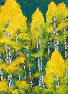 Aspen Tree painting by my hubby :)