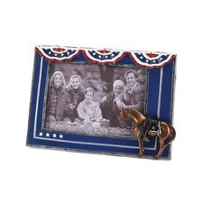 Show details for Fallen Heroes Pony Frame Create a photographic tribute to a long-lost hero with this patriotic full color frame! This distinctive addition to the Painted Ponies collection lets you display your portrait with true American pride.
