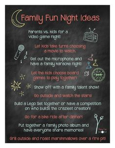 How do you make Family Fun Nights special? Description from sippycupmom.com. I searched for this on bing.com/images